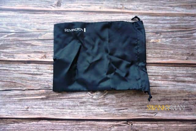 Remington HC4250 storage pouch on wooden table