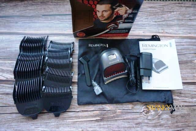 Remington selfcut hairclippers unboxed on table